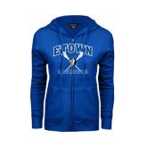 ENZA Ladies Royal Fleece Full Zip Hoodie-Crossed Sticks Lacrosse