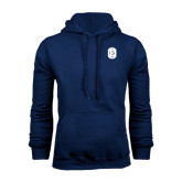 Navy Fleece Hood-Official Logo