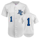 Replica White Adult Baseball Jersey-#1