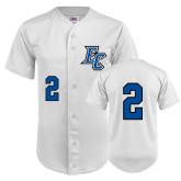 Replica White Adult Baseball Jersey-#2