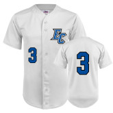 Replica White Adult Baseball Jersey-#3