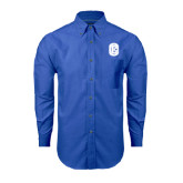 Mens Royal Oxford Long Sleeve Shirt-Official Logo