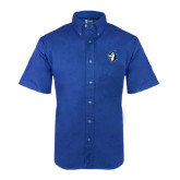 Royal Twill Button Down Short Sleeve-Blue Jays Mascot