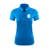 Ladies Ogio Sapphire Blue Pleated Back Polo-Official Logo