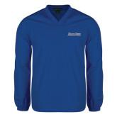 V Neck Royal Raglan Windshirt-Blue Jays Wordmark