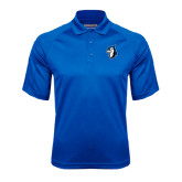 Royal Textured Saddle Shoulder Polo-Blue Jays Mascot