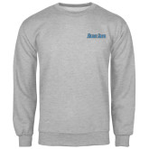 Grey Fleece Crew-Blue Jays Wordmark