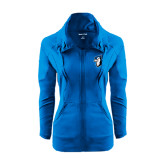 Ladies Sport Wick Stretch Full Zip Sapphire Jacket-Blue Jays Mascot