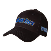 Black Heavyweight Twill Pro Style Hat-Blue Jays Wordmark