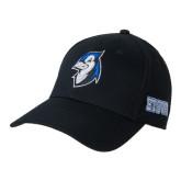 Black Heavyweight Twill Pro Style Hat-Blue Jays Mascot