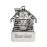 Pewter House Ornament-Blue Jays Wordmark Engraved