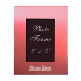 Pink Brushed Aluminum 3 x 5 Photo Frame-Blue Jays Wordmark Engraved