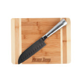 Oneida Cutting Board and Santoku Knife Set-Blue Jays Wordmark Engraved