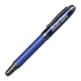 Carbon Fiber Blue Rollerball Pen-Blue Jays Wordmark Engraved
