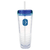 Tritan Double Wall Tumbler w/Blue Top 26oz-Official Logo