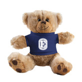 Plush Big Paw 8 1/2 inch Brown Bear w/Navy Shirt-Official Logo