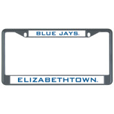 Metal License Plate Frame in Black-Blue Jays