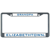 Metal License Plate Frame in Black-Grandpa