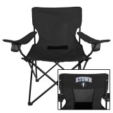 Deluxe Black Captains Chair-ETOWN with Mascot