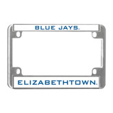 Metal Motorcycle License Plate Frame in Chrome-Blue Jays