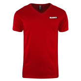 Next Level V Neck Red T Shirt-Primary Mark