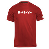 Russell Core Performance Red Tee-Tag Line