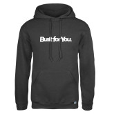 Russell DriPower Charcoal Fleece Hoodie-Tag Line