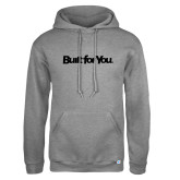 Russell DriPower Grey Fleece Hoodie-Tag Line