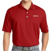 Nike Golf Dri Fit Red Micro Pique Polo-Tag Line