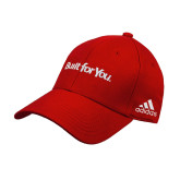 Adidas Red Structured Adjustable Hat-Tag Line