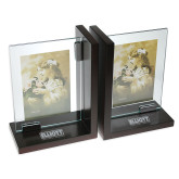 Glass Frame Bookends-Primary Mark Engraved