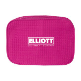 Large Hot Pink Waffle Cosmetic Bag-Primary Mark