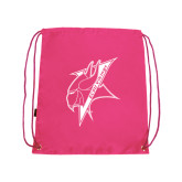 Pink Drawstring Backpack-Viking Head