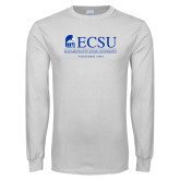White Long Sleeve T Shirt-ECSU