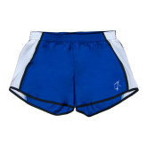 Ladies Royal/White Team Short-Viking Head