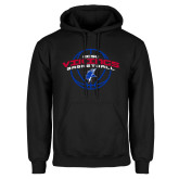 Black Fleece Hoodie-ECSU Vikings Basketball Arched w/ Ball
