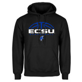Black Fleece Hoodie-ECSU Basketball Half Ball