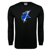 Black Long Sleeve TShirt-Viking Head