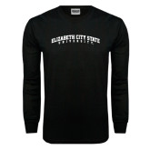 Black Long Sleeve TShirt-Arched Elizabeth City State University