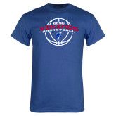 Royal T Shirt-ECSU Vikings Basketball Arched w/ Ball