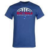 Royal T Shirt-ECSU Basketball Half Ball