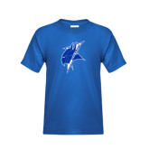 Youth Royal T Shirt-Viking Head