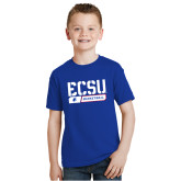 Youth Royal T Shirt-ECSU Basketball Stencil