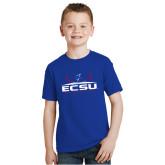 Youth Royal T Shirt-ECSU Football Field