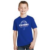 Youth Royal T Shirt-ECSU Vikings Volleyball Stacked