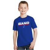 Youth Royal T Shirt-ECSU Band Stencil