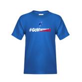 Youth Royal T Shirt-#GoVikings