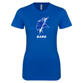 Next Level Ladies SoftStyle Junior Fitted Royal Tee-Band