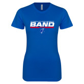 Next Level Ladies SoftStyle Junior Fitted Royal Tee-ECSU Band Stencil
