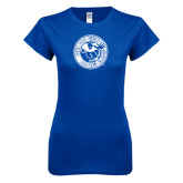 Next Level Ladies SoftStyle Junior Fitted Royal Tee-Football Classic
